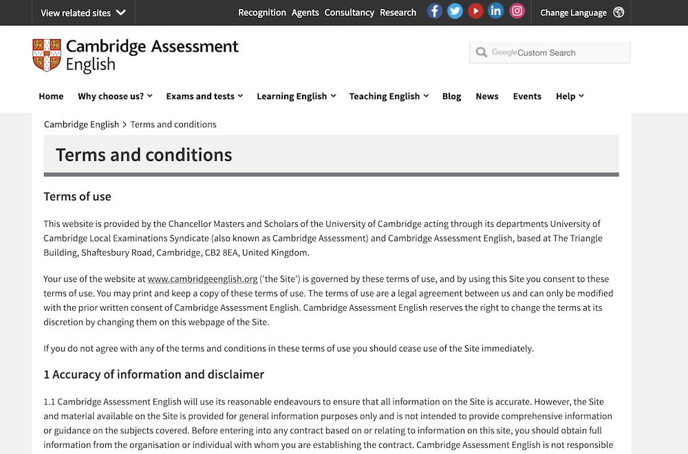 Terms & Conditions Template from cambridgeenglish